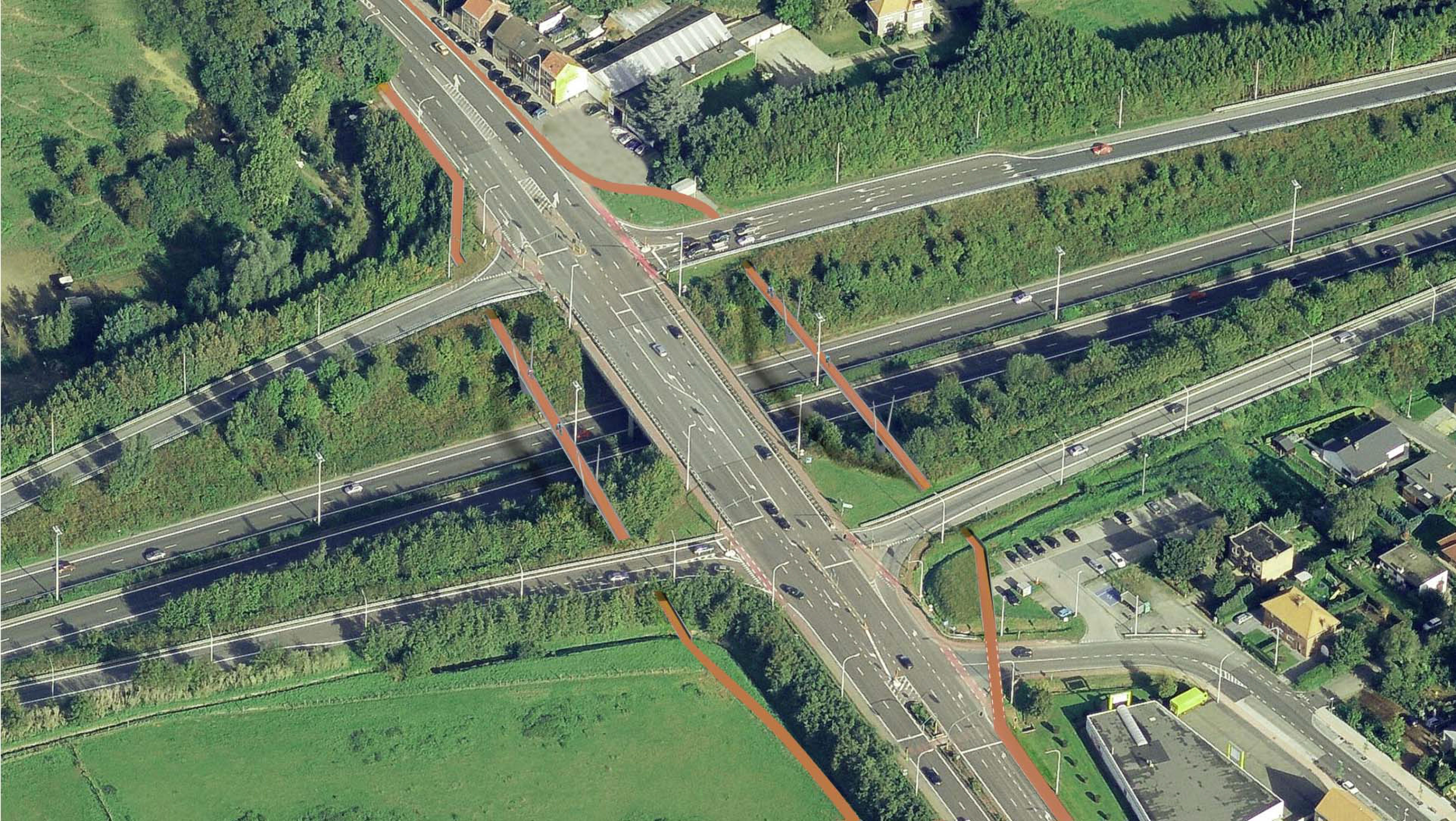 Voorstel fietsbruggen E314xN26 Fietsersbond Herent
