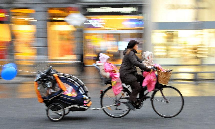 Kinderen vervoeren per fiets