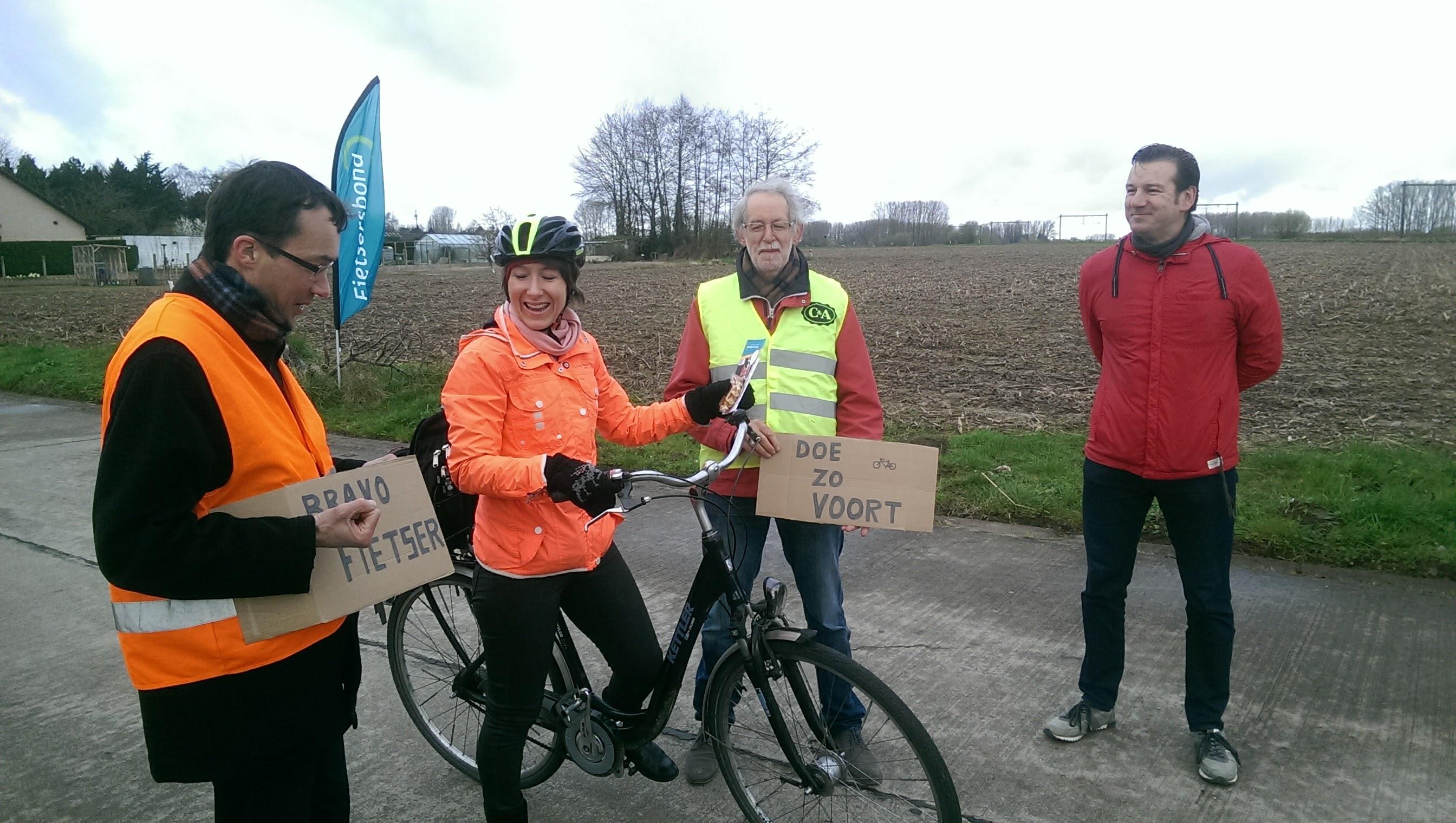 sfeerbeelden applausaktie fietsersbond Haaltert