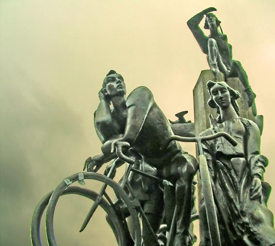 fietsers 't zand Brugge