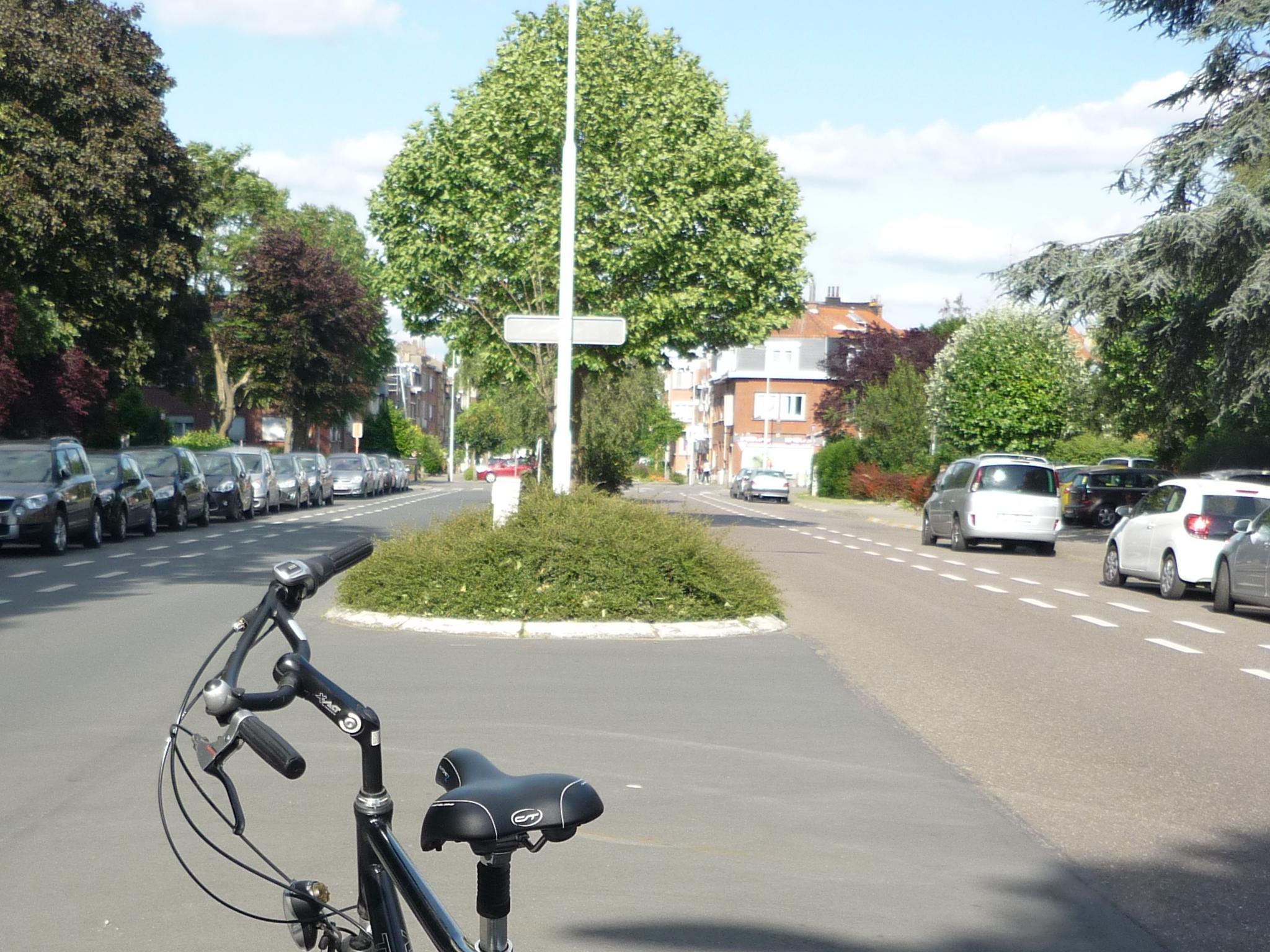 Gemarkeerd fietspad in beide richtingen Hervormingslaan Ganshoren