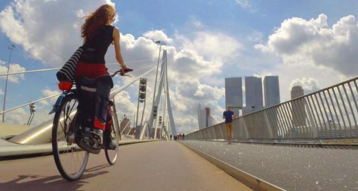 Fietsen door Rotterdam