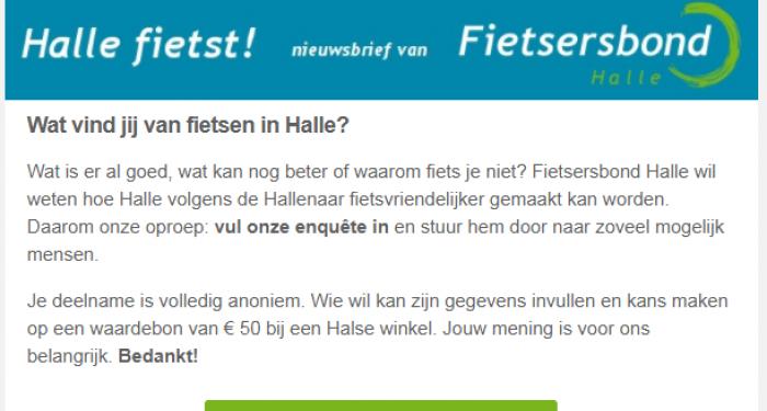 Nieuwsbrief Fietsersbond Halle
